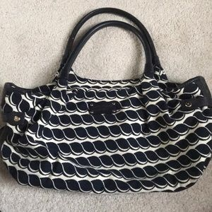 Kate Spade beach theme tote navy blue